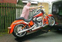 Auffahrrampe für Motorrad
