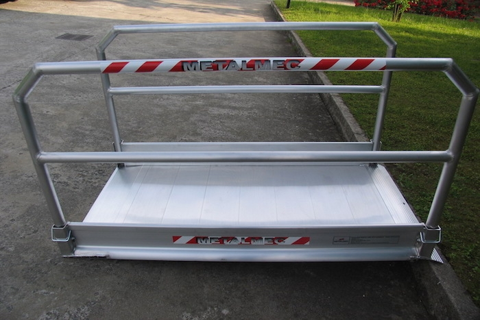 Pedestrian & Vehicle Ramps with Handrails