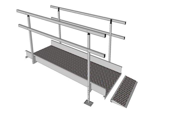1100mm Wide Modular Ramp Parts
