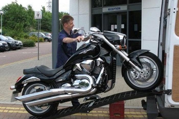 Motorradrampe