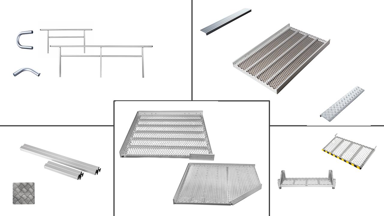 Einzelteile für 1500mm breite Rampensysteme