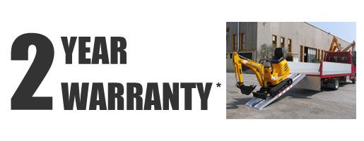 2 year warranty on ramps